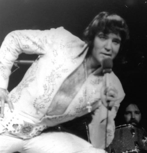 Elvis Presley at Madison Square Garden taken at the Afternoon Show June 1972